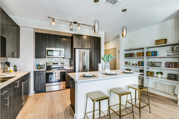 kitchen at Scenic at River East Apartments