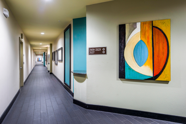 residents hallway at Allegro Apartments