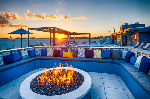 fire pit at Allegro Apartments