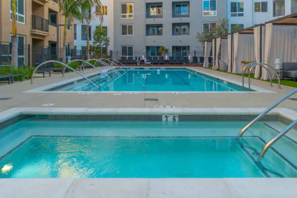 pool at Baker Block Apartments