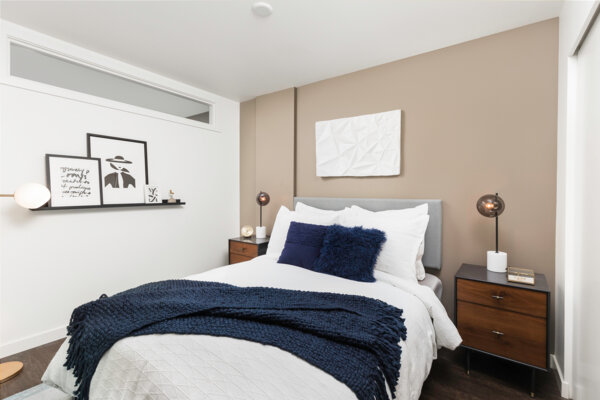 bedroom at Elara at the Market Apartments