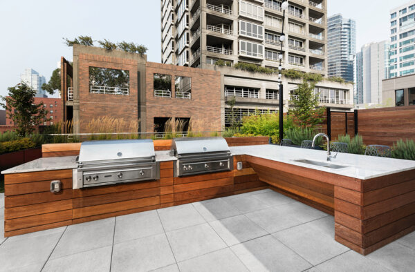 grill area at Elara at the Market Apartments