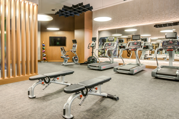 fitness center at Gallery Bethesda II Apartments