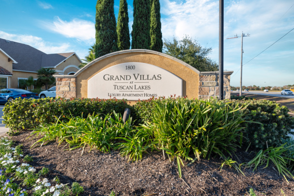 signage at Grand Villas at Tuscan Lakes Apartments