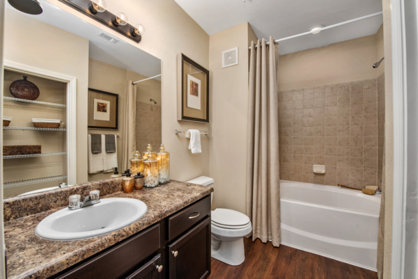 bathroom at Grand Villas at Tuscan Lakes Apartments