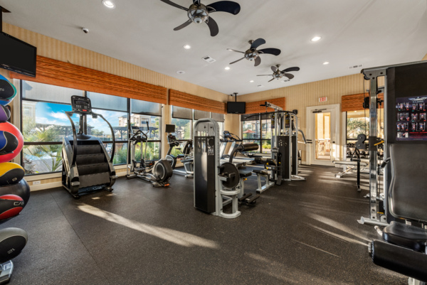 fitness center at Grand Villas at Tuscan Lakes Apartments