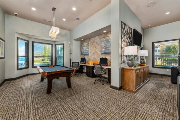 business center at Grand Villas at Tuscan Lakes Apartments