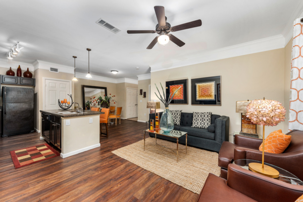 living room at Grand Villas at Tuscan Lakes Apartments