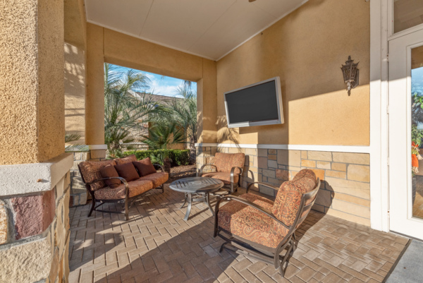 patio at Grand Villas at Tuscan Lakes Apartments