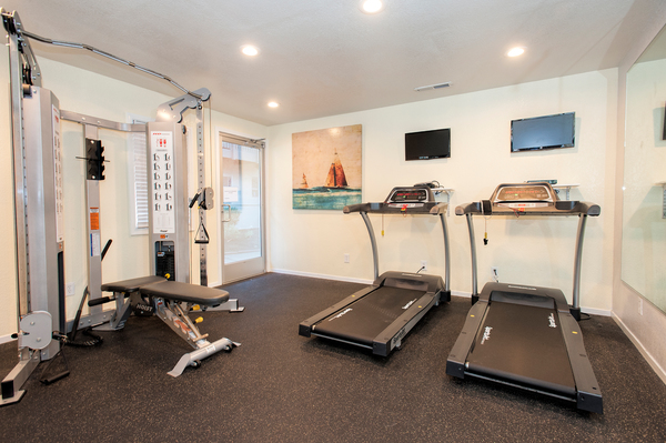 fitness center at Monterey Townhouse