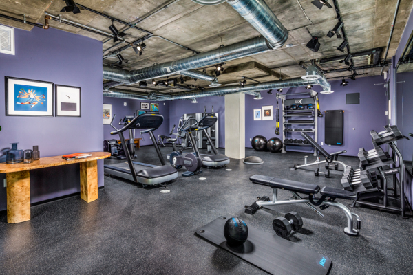 fitness center at WILCO Apartments
