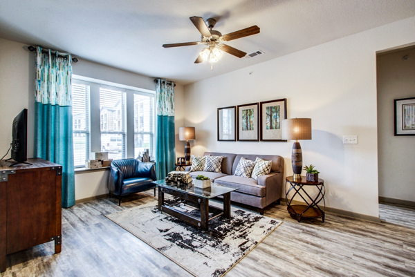 living room at Enclave Falcon Pointe Apartments
