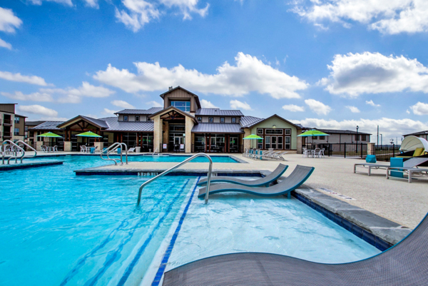 pool at Enclave Falcon Pointe Apartments