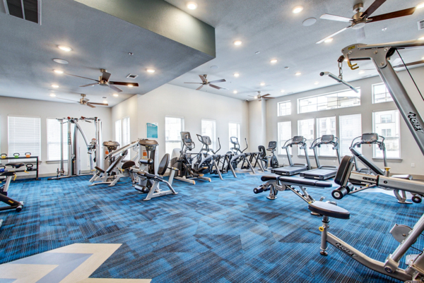 fitness center at Enclave Falcon Pointe Apartments