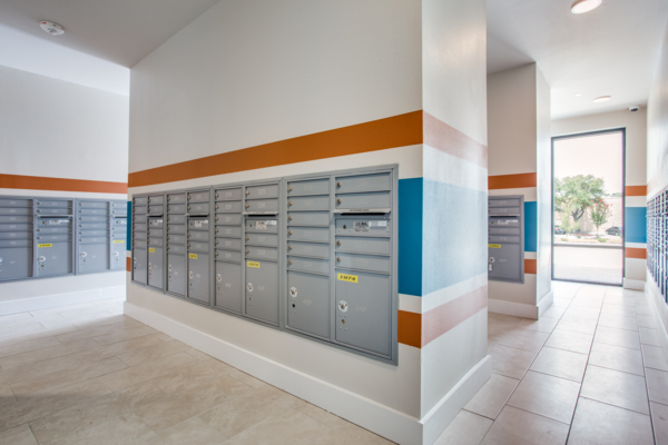 mail room at Quest Apartments