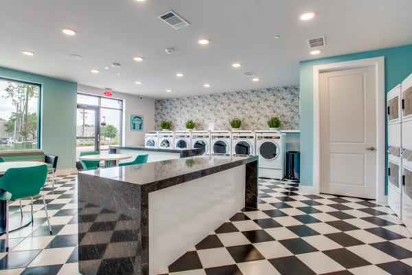 laundry facility at Quest Apartments