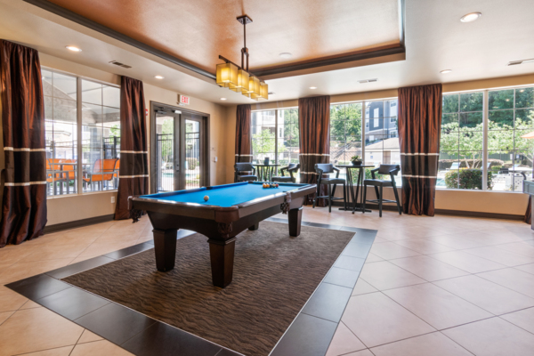 game room at Centerview at Crossroads Apartments