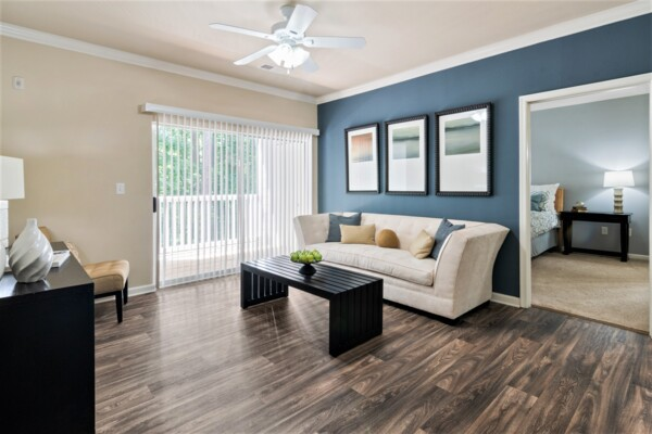 living room at Centerview at Crossroads Apartments