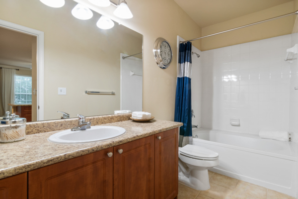 bathroom at Centerview at Crossroads Apartments