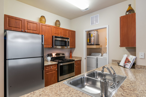kitchen at Centerview at Crossroads Apartments