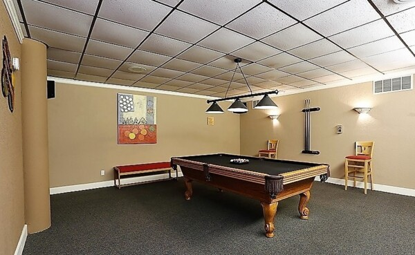 game room at Glo Apartments