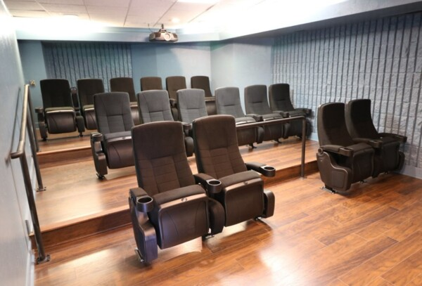 theater at Glo Apartments