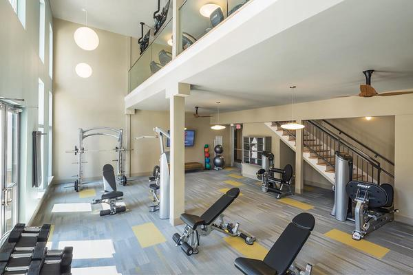 fitness room at Loft One35 Apartments