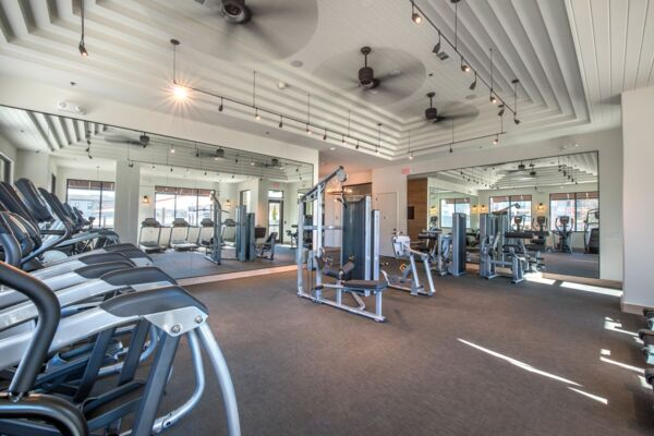 fitness centers at Elan Flower Mound Apartments