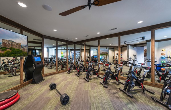 fitness center at The Alexan Apartments