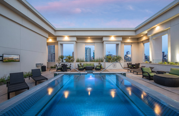 pool at The Alexan Apartments