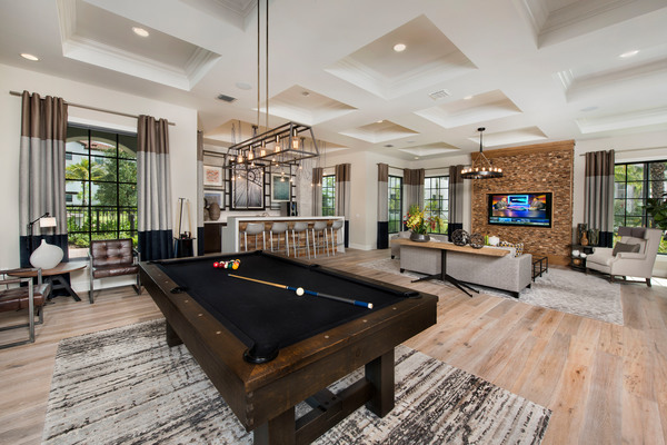 game room at Casa Vera Apartments
