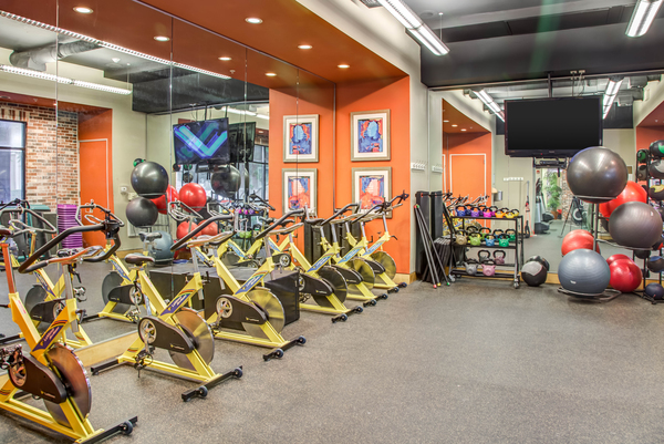 fitness center at Lofts at the Ballpark Apartments