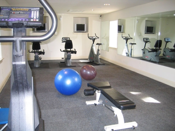 fitness room at Village at Fox Point Apartments