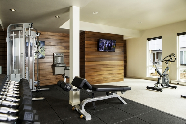 fitness center at Allez Apartments