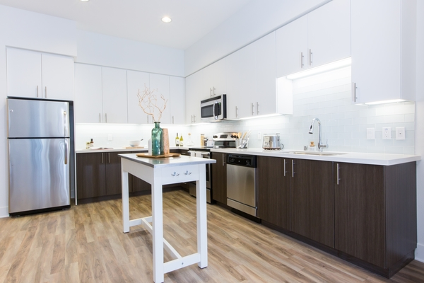 kitchen at Loft House Apartments