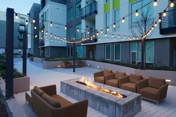 patio at Loft House Apartments