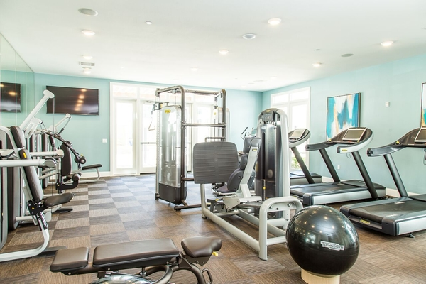 fitness center at Dylan Point Loma Apartments