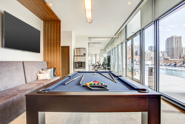 game room at NEXT Apartments