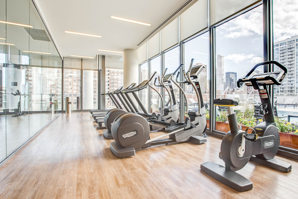 fitness center at NEXT Apartments