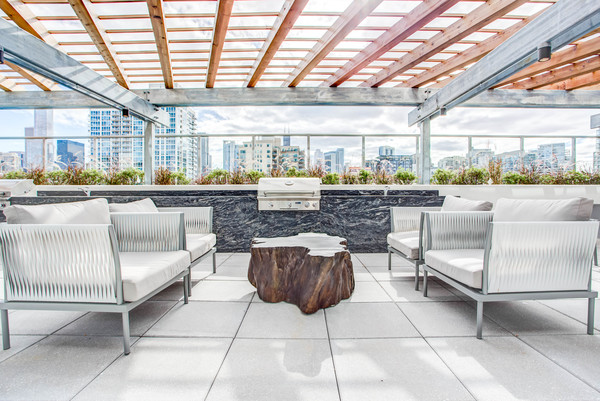 grill area at NEXT Apartments