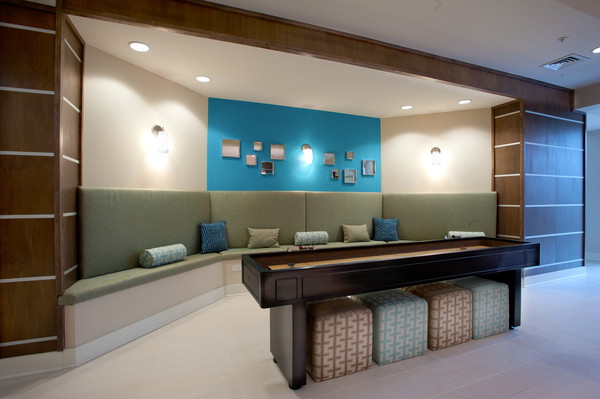 game room at Groveton Green Apartments