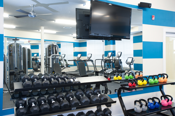 fitness center at Groveton Green Apartments