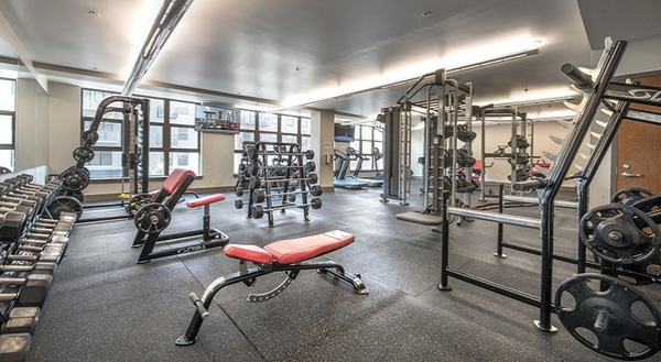 fitness center at College Town Student Apartments