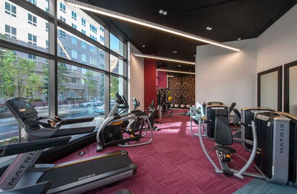 fitness center  at Latitude Apartments