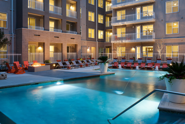pool at Arpeggio Victory Park Apartments