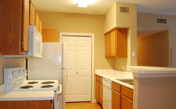 kitchen at Braunfels Place Apartments