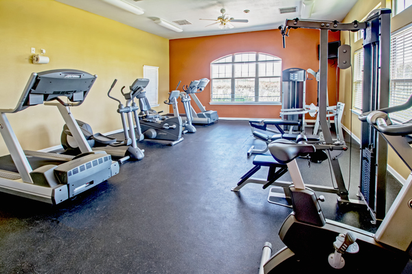 fitness center at Bayou Reserve Apartments