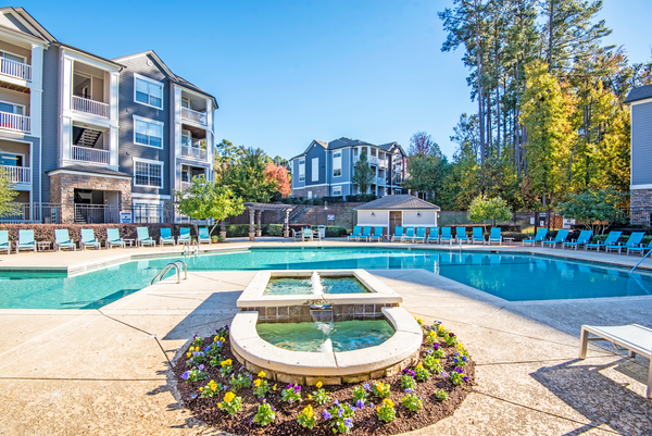 pool at Centerview at Crossroads Apartments