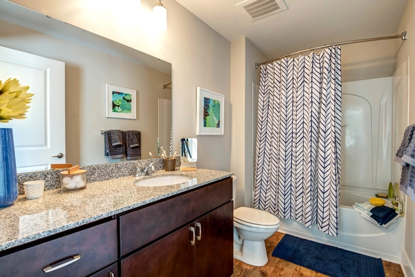 bathroom at 300 Swift Luxury Apartments
