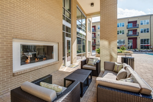 fire pit at 300 Swift Luxury Apartments